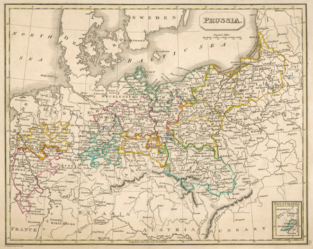 Map Europe Germany 1827