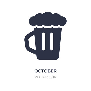 october icon on white background. Simple element illustration from Alcohol concept.