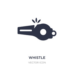 whistle icon on white background. Simple element illustration from American football concept.