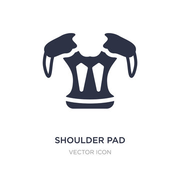 shoulder pad icon on white background. Simple element illustration from American football concept.