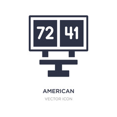 american football scores icon on white background. Simple element illustration from American football concept.