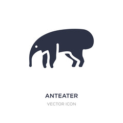 anteater icon on white background. Simple element illustration from Animals concept.