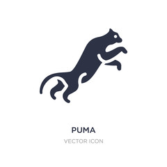 puma icon on white background. Simple element illustration from Animals concept.