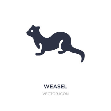weasel icon on white background. Simple element illustration from Animals concept.