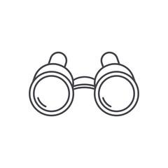 binoculars icon in flat style
