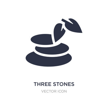 three stones icon on white background. Simple element illustration from Beauty concept.