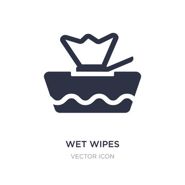 wet wipes icon on white background. Simple element illustration from Beauty concept.
