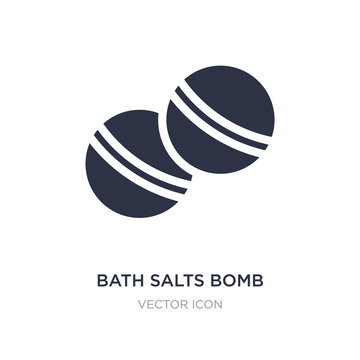 bath salts bomb icon on white background. Simple element illustration from Beauty concept.