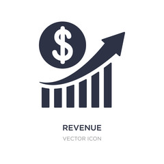 revenue icon on white background. Simple element illustration from Business and analytics concept.