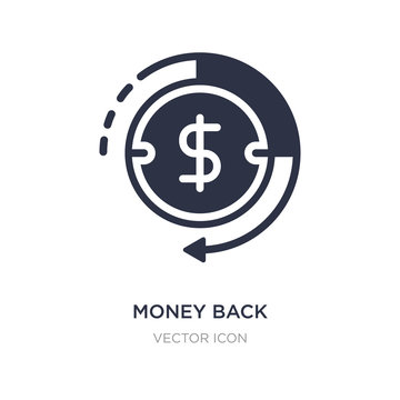 money back icon on white background. Simple element illustration from Business and finance concept.