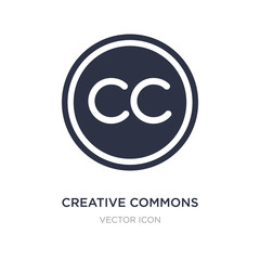 creative commons icon on white background. Simple element illustration from Content concept.