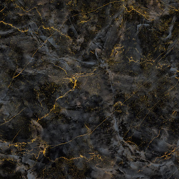 beautiful natural black and gold textured marble