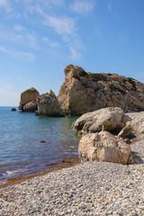 Petra-tou-Romiou - place of Afrodita birth on Cyprus (with Stone stacking)