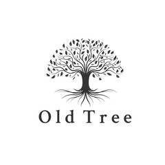 trees logo designs inspirations , root , leaf