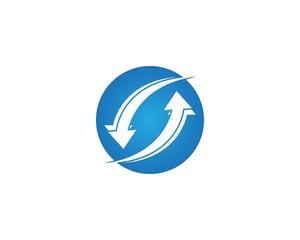 Business finance arrow logo template