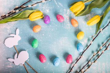 Obraz Święta Wielkanocne. Kolorowe tło. - fototapety do salonu