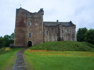 Ruine des Doune Castle in den schottischen Highlands