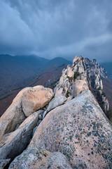 View from Ulsanbawi rock peak. Seoraksan National Park, South Corea