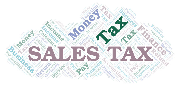 Sales Tax word cloud.