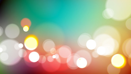 Abstract bokeh light on colorful background