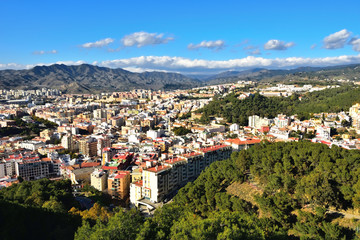 Panorama Malagi z Gibralfaro