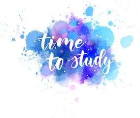 Time to study - motivational message