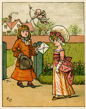 Valentines Card to His True Love, by Kate Greenaway