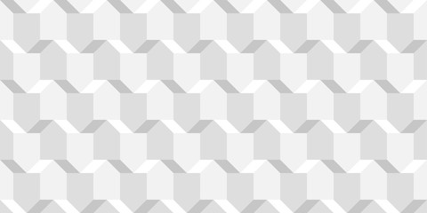 Vector wicker cubes texture, light geometric seamless pattern, design white background for you projects
