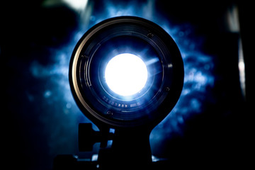 light reflections in a photo lens