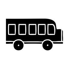 flat symbol school bus