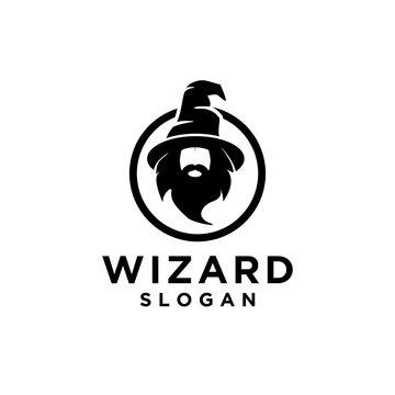 wizard logo icon designs illustration template vector
