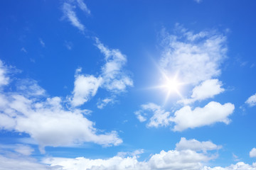 blue sky sun and clouds background