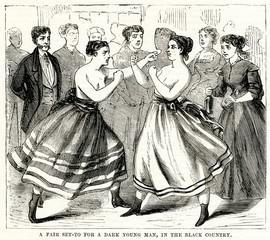 Jealous Women Fight 1870
