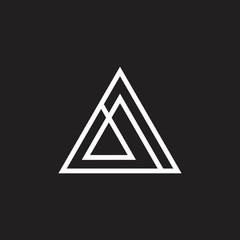 abstract simple triangle line geometric logo