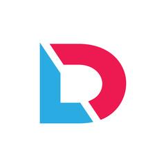 Fototapeta abstract simple letter ld simple geometric logo vector obraz