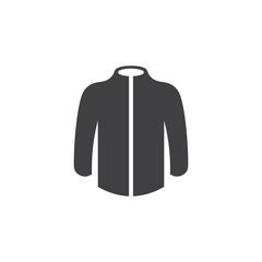 simple jacket geometric symbol icon vector