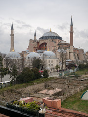 Hagia Sophia is a former Greek Orthodox Christian patriarchal basilica, later an imperial mosque, and now a museum in Istanbul, Turkey. March, 2019