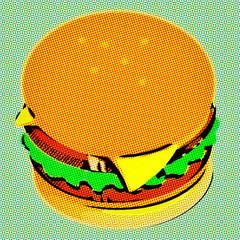Pop art. Hamburger