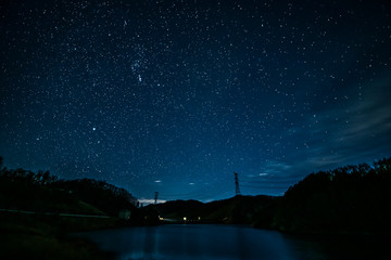 山梨 乙女湖の星空