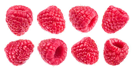 Raspberry isolated on white background. Collection Fotobehang