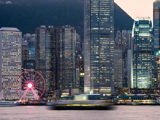 尖沙咀から見る香港 夕景