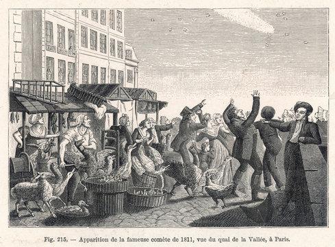Comet of 1811 Over Paris