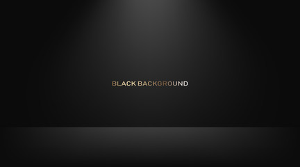 Empty black studio room, used as background for display your products