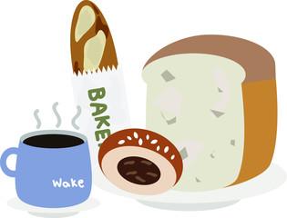 breakfast set in the morning