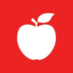 Apfel und Hintergrund