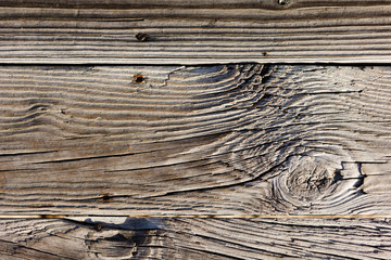 Old Weathered Wood Background, Beach Boardwalk Wood Texture Background
