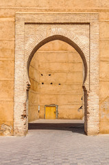 Majestic gate in Marrakech, Morocco