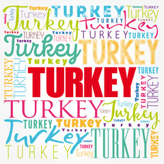 Turkey wallpaper word cloud, travel concept background