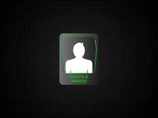 Man profile vector illustration