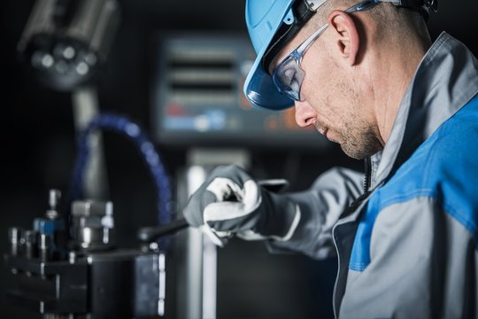 Metalworking Technician at Work